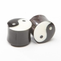 "11/16"" (17.5mm) Horn Ying and Yang Plugs ON SALE"