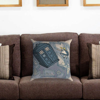 Awesome Disney Princess Doctor Who Mash-Up Pillow Cover , Custom Zippered Pillow Case One Side Two Sides