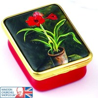 Amarylis by Sir Winston Churchill Enamel Box , Enamels , Paintings