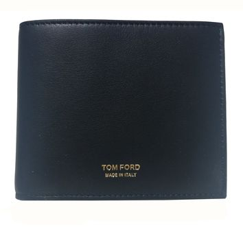 Tom Ford Men's Black Leather Billfold Bifold Wallet Y01310