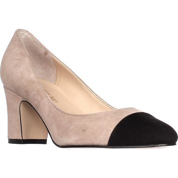 Ivanka Trump Lindi Cap Toe Classic Pumps, Light Natural, 9.5 US