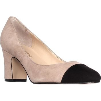 Ivanka Trump Lindi Cap Toe Classic Pumps, Light Natural, 11 US