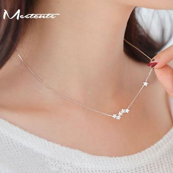 Meetcute Drop Shipping 925 Sterling-silver Necklaces Star Pendants&Necklaces Jewelry Collar Necklace Pendants For Women de Plata