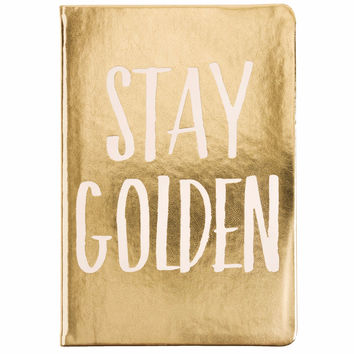 Stay Golden Lined Journal with Metallic Cover