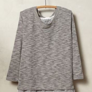 Ainsley Ruffle-Back Pullover by Clu + Willoughby Grey