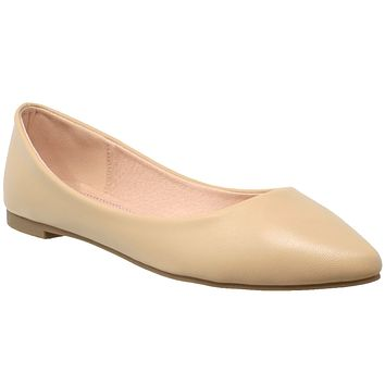 6c5999e5e91d Womens Ballet Flats Pointed Toe Slip On Cushioned Closed Toe Sho