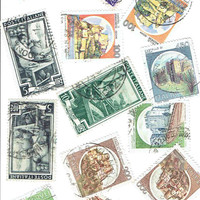 Vintage Italy Postage Stamps Used Scrapbooking Supplies Art Cards Stationery Decoupage Collage DIY Crafts World Travel Gift Italian Antique