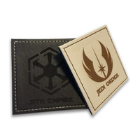 Jedi vs Sith Faux Leather coasters