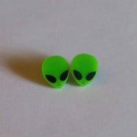 Alien post earrings
