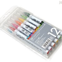 JetPens.com - Kuretake Zig Clean Color Real Brush Pen - 12 Color Set