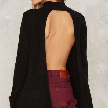 Nasty Gal Split Ways Turtleneck Sweater - Black