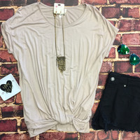 Knotted Top: Mocha