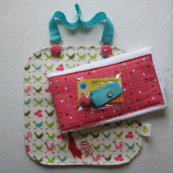 Chicken Baby Girl Gift Set Clip Bib Cloth by adrisadorables