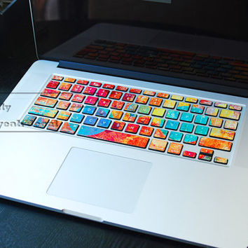 colorful keyboard decal/Macbook decal/Macbook Pro Keyboard Skin/Macbook Air Sticker/apple/wireless keyboard/vinyl sticker