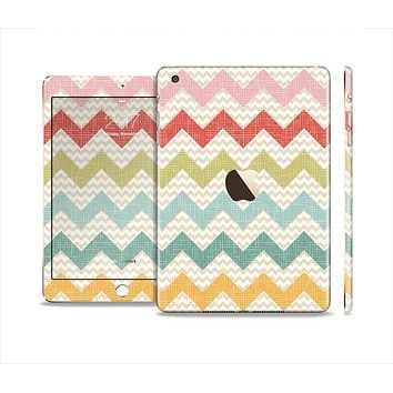 The Vintage Summer Colored Chevron V4 Full Body Skin Set for the Apple iPad Mini 3