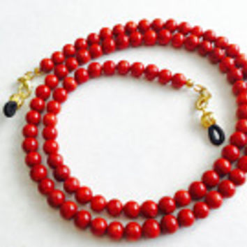Bamboo Coral Handmade Eyeglass Chain Holder