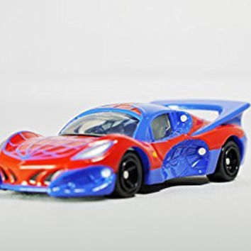 TAKARA TOMY DREAM TOMICA Vehicle Diecast Car Figure MARVEL Comic Spiderman SPIDER FORMULA No. 158 Red and Blue