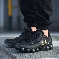 Best Deal Online Under Armour UA Scorpio Men Running Shoes Black Gold