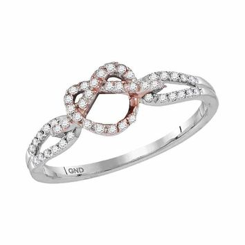 10k 2-tone White Gold Women's Diamond Infinity Heart Ring - FREE Shipping (US/CA)