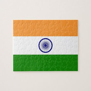Puzzle with Flag of India