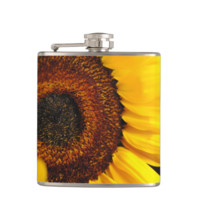 Sunflowers Heart Flask