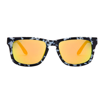 RILEY - BLACK / WHITE FRAME - GOLD MIRROR LENS