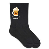 Dad Could Use a Beer - Socks for Father's Day - Made to Order