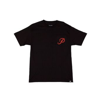 Primitive Apparel CLASSIC P POCKET TEE -BLACK Mens Apparel Mens T-Shirts at Primitive Store