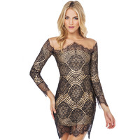 Lace Crochet Mini Dress