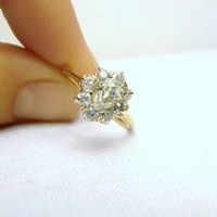 Vintage Victorian 56ct Old Mine Cut Diamond and by RiordanStudio