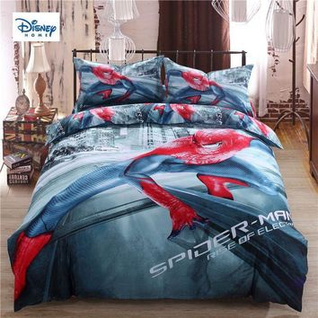 Cool disney marvel new spider-man hot beddings 3d comforter single sets twin queen king size boy girl's gift duvet cover pillow casesAT_93_12