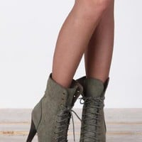 In the Army Lace-Up Heels