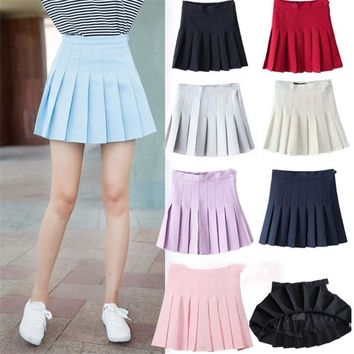 Women's Skirts Ladies Kawaii Summer Short College Wind Student Pleated Skirt Female Korean Harajuku Summer Clothing For Women