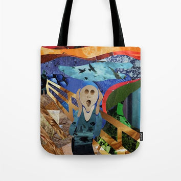 The Scream Tote Bag, Girls Canvas Tote Bag, Womens Totes, Shopping Tote, Beach Tote, Unique Valentine Gift Ideas for Women, Mothers day gift