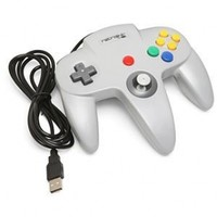 Retrolink Nintendo 64 Classic USB Enabled Wired Controller for PC and MAC, Black