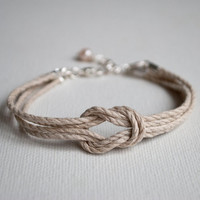 Sailor's knot bracelet, hemp rope