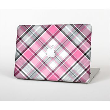 The Black and Pink Layered Plaid V5 Skin for the Apple MacBook Air 13""