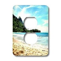 lsp_22970_6 Patricia Sanders Hawaii - Hawaii beach - Light Switch Covers - 2 plug outlet cover