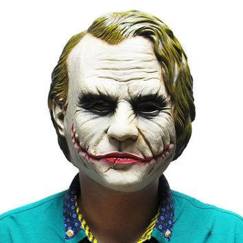 Joker Mask Cosplay Movie Adult Party Masquerade Rubber Latex Mask - Free Shipping