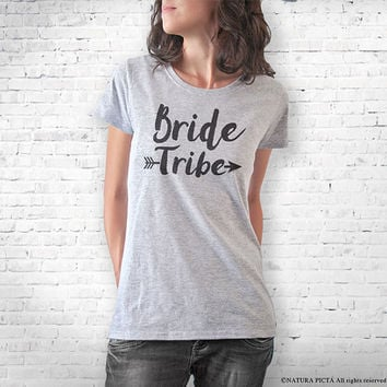 Bride tribe T-shirt-bride t-shirt-Bachelorette Party-wedding t-shirt-gift for the bride-wedding tees-cool tees-women tee-NATURAPICTA-NPTS094