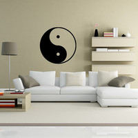 Ying and Yang Vinyl Decal Wall Art