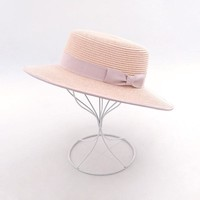 Muchique Boater Hat  2017 Summer Sun Hats for Women Paper Straw Beach Hat Hot Fashion