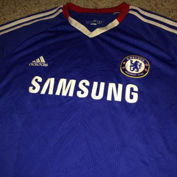 Sale!! Vintage Adidas Chelsea Fc soccer Jersey CFC England Football shirt Size XL Free