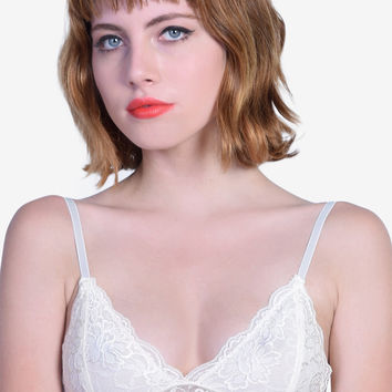 Pastel Lace Bra - Cream