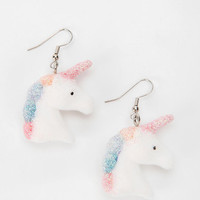 Urban Outfitters - Urban Renewal Fuzzy Unicorn Earring