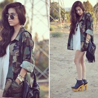 Oversized Camo Army Jacket from ShopWunderlust