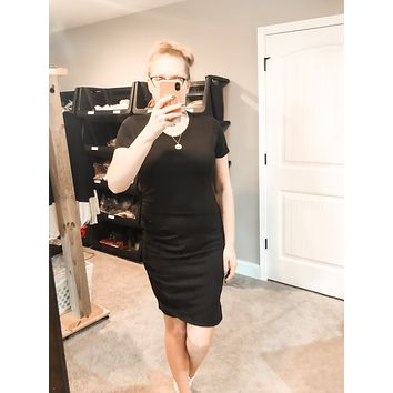 This is Love Dress Ruched side dress black