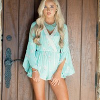 My Cup of Tea Romper Mint
