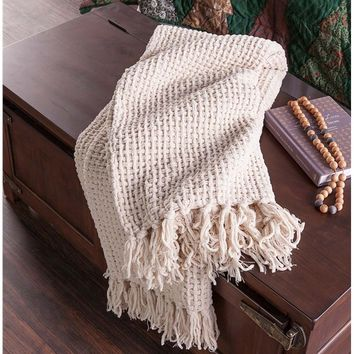 Basketweave Chenille Throw
