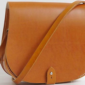 Handmade vintage cute rustic leather crossbody Shoulder Bag for girl women lady